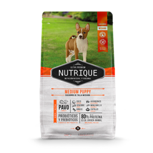 Nutrique Medium Puppy x 1, 3 y 12kg