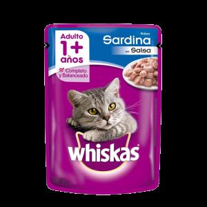 Whiskas Pouch Adulto Sardina x 85 Gs